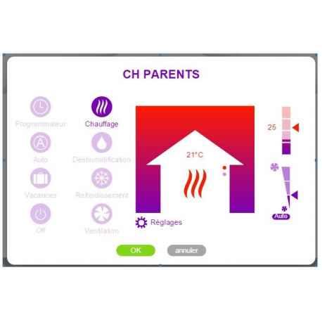 Interface Pompe à Chaleur Air/eau HITACHI