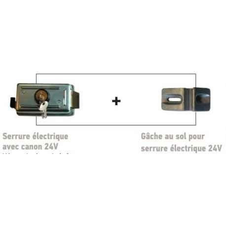 SERRURE ELECTRIQUE AVEC CANON 24V