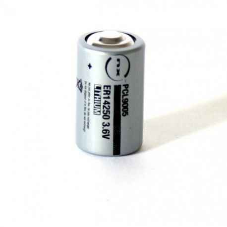 Pile lithium ER14250 taille 1/2 AA 3.6V 1.2Ah