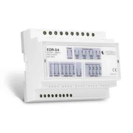 EDISIO - Récepteur DIN RAIL 868,3 MHz - Marche/Arrêt/Dimmer - 4 x 500W
