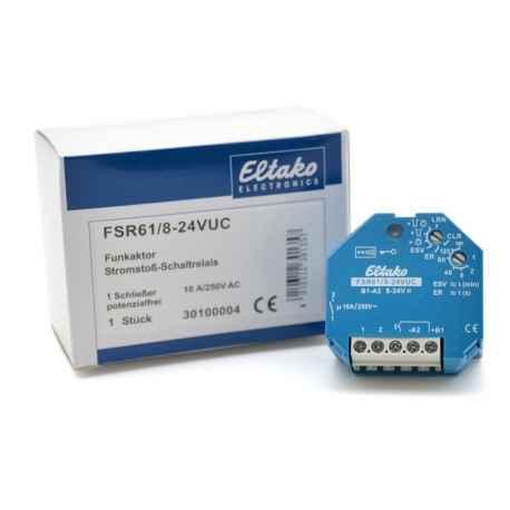 Actionneur EnOcean télérupteur à alimentation en 8 à 24V UC