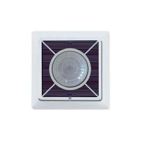 Détecteur radio de mouvement et de luminosité avec cellule solaire intégrée, blanc pur