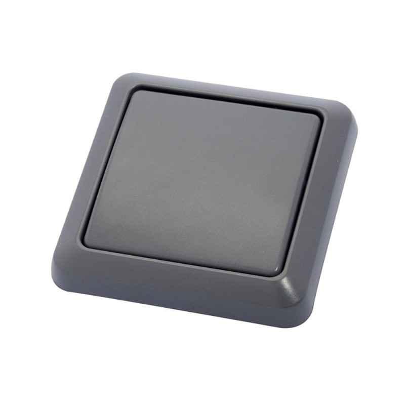 interrupteur sans fil ip44 gris. Black Bedroom Furniture Sets. Home Design Ideas