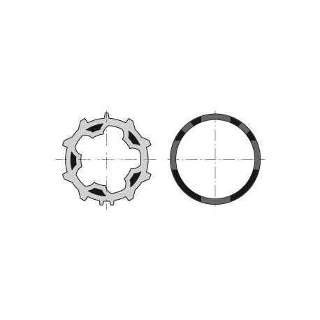 ROUE + COURONNE MOTEUR DIAM.50 - TUBE ZF54